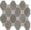 Boston Mosaico Ottagona Ash su rete 30x34 cm