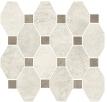 Boston Mosaico Ottagona White su rete 30x34 cm