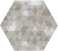 Urban Hexagon Forest Silver 29.2x25.4 cm