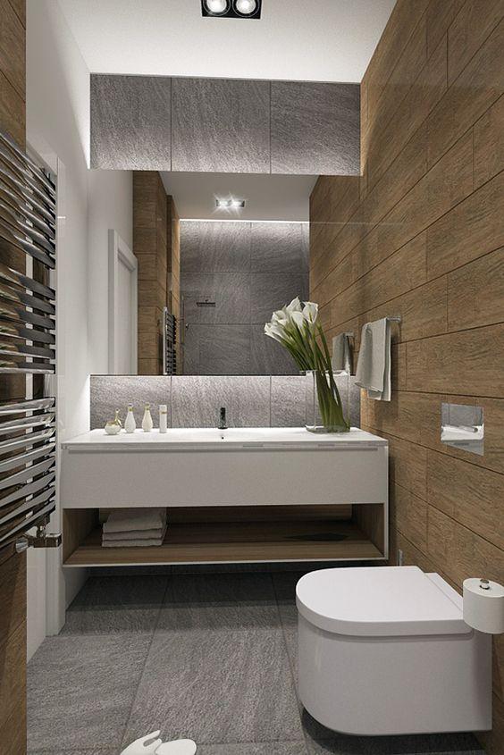 Medžio Imitacija Vonios Kambaryje Apdailos Namai
