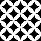 District Circles Black 20x20 cm