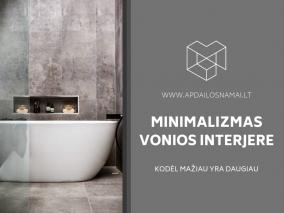 Minimalizmas vonios interjere: kodėl mažiau yra daugiau