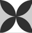 Petals, matt 15x15cm
