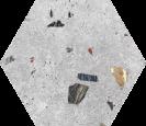 Sonar Silver Hex 25 22x25 cm