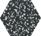 Venice Black Hex25,  22x25cm