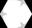 Stella Silver Hex 22x25 cm