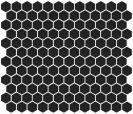 Minimal Hexagon 1HE GI 7003 BLACK 30X30 CM