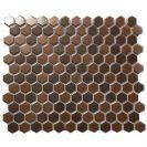 Minimal Hexagon 1HE SILVER/COPPER 30X30 CM