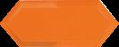 Cupidon Naranja Brillo Bisel 10x30 cm