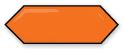 Cupidon Naranja Line Brillo Bisel 10x30 cm