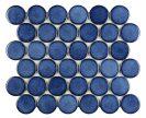 Round Blue 30,4x26,7 cm